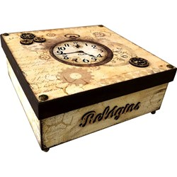 Aquarelado - Caixa Relógio