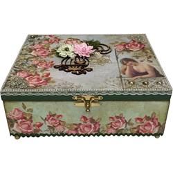 Efeito Esponjado - Caixa Dama Romantic