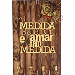 Efeito Nó de Madeira - Placa Porta Chave