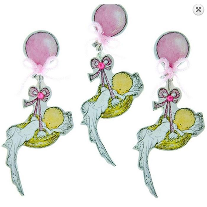 Adesivo 3D Balões Rosas 10714 (AD1159) Toke e Crie