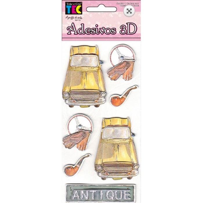 Adesivo 3D com 6 unidades - 10702 Carros Antigos