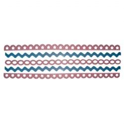 Adesivo Borda em feltro FL05-01 - Rosa/Azul - 5 unidades