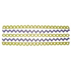 Adesivo Borda em feltro FL05-02 - Lilás/Amarelo - 5 unidades
