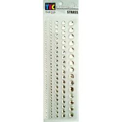 Adesivo Borda Strass Prata 10130 - Embalagem com 145 Strass