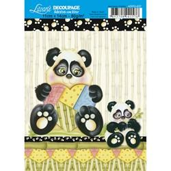 Adesivo com Glitter Litoarte ADPG-037 Pandas I