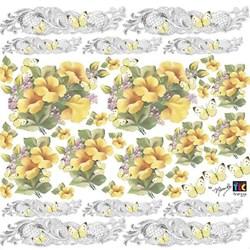 Adesivo Decorativo By Mamiko 20645 (TDM19) - Hibisco Amarelo
