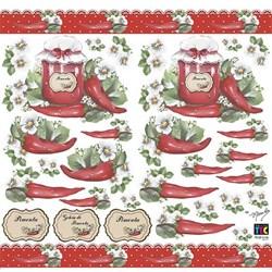 Adesivo Decorativo By Mamiko 20646 (TDM20) - Pimenta e Rótulos