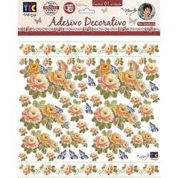 Adesivo Decorativo By Mamiko 20647 (TDM21) - Rosas Laranja