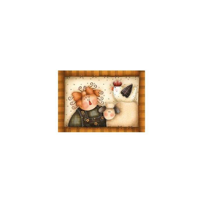 Adesivo Fabi AD15 Menina e Ovelha