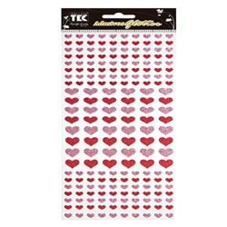 Adesivo Glitter Mini Corações Toke e Crie 15302