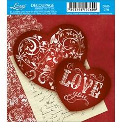 Adesivo Litoarte 10x10cm DAX-076 Love You