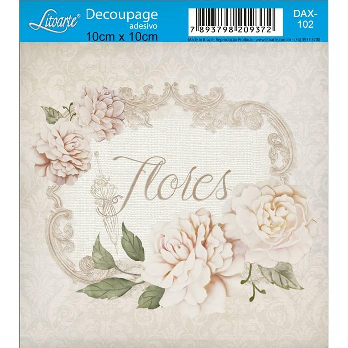 Adesivo Litoarte 10x10cm DAX-102 Rosas Silvestres