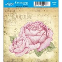 Adesivo Litoarte 10x10cm DAX-113 Rosas Vintage