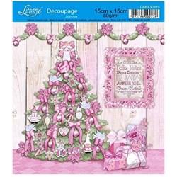 Adesivo Litoarte 15x15cm DANXV-015 Árvore Rosa