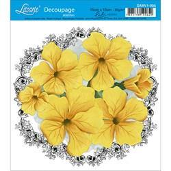 Adesivo Litoarte Lili Negrão DAXV1-005 Flores Amarelas