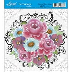 Adesivo Litoarte Lili Negrão DAXV1-009 Rosas e Arabescos