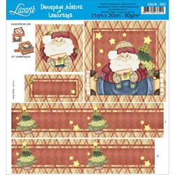 Adesivo Litoarte para Lembranças DALN-003 Papai Noel
