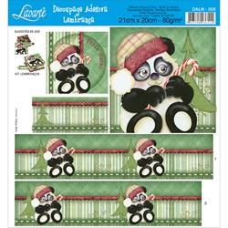 Adesivo Litoarte para Lembranças DALN-005 Ursinho Panda Noel