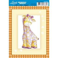 Adesivo para Decoupage 11x14cm Litoarte DAP-005 Girafa