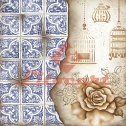 Adesivo para Decoupage Litocart LAQP-19 Azulejo e Rosa