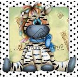 Adesivo para Decoupage Litocart LAX-114 Zebra Baby