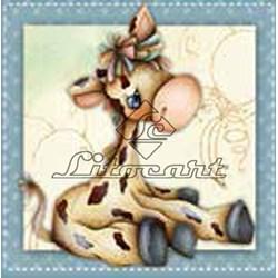 Adesivo para Decoupage Litocart LAX-117 Girafa Baby
