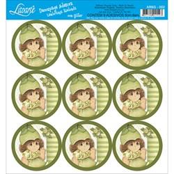 Adesivo para Lembranças com Glitter Litoarte AR6G-002 Limão