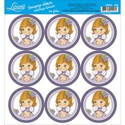 Adesivo para Lembranças com Glitter Litoarte AR6G-006 Uva