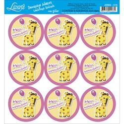 Adesivo para Lembranças com Glitter Litoarte AR6G-016 Girafa