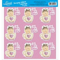 Adesivo para Lembranças com Glitter Litoarte DAL6G-002 Bebê