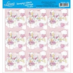 Adesivo para Lembranças com Glitter Litoarte DAL6G-004 Infantil