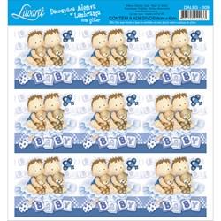 Adesivo para Lembranças com Glitter Litoarte DAL6G-009 Bebê