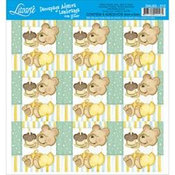 Adesivo para Lembranças com Glitter Litoarte DAL6G-012 Infantil