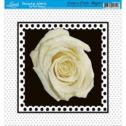 Adesivo Quadrado com Hot Stamping DAQH-016 Rosa
