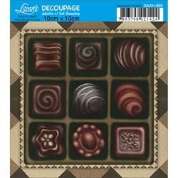 Adesivo Quadrado com Hot Stamping DAXH-005 Chocolate