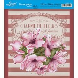 Adesivo Quadrado Lili Negrão 20x20cm DA201-001 Charme de Fleurs