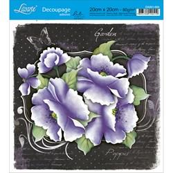 Adesivo Quadrado Lili Negrão 20x20cm DA201-004 Garden
