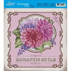 Adesivo Quadrado Lili Negrão 20x20cm DA201-005 Romantic Style