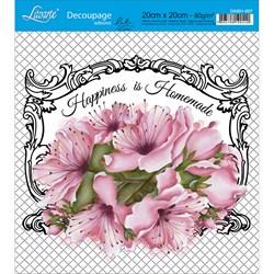 Adesivo Quadrado Lili Negrão 20x20cm DA201-007 Happiness is Homemade
