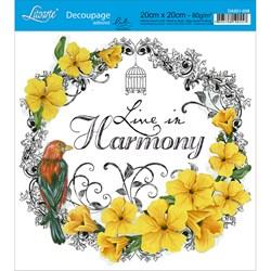 Adesivo Quadrado Lili Negrão 20x20cm DA201-008 Line in Harmony