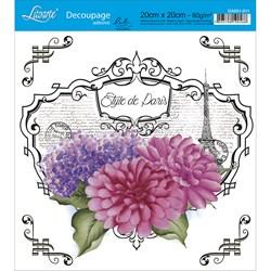 Adesivo Quadrado Lili Negrão 20x20cm DA201-011 Style Paris