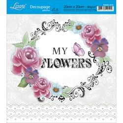 Adesivo Quadrado Lili Negrão 20x20cm DA201-012 My Flowers