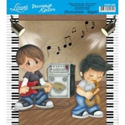Adesivo Quadrado Litoarte 20x20cm DA20-008 Banda de Música
