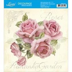 Adesivo Quadrado Litoarte 20x20cm DA20-017 Roses Romantic Garden