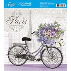 Adesivo Quadrado Litoarte 20x20cm DA20-020 Bicicleta Paris