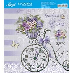 Adesivo Quadrado Litoarte 20x20cm DA20-025 Garden Of Love