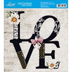 Adesivo Quadrado Litoarte 20x20cm DA20-035 Love