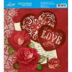 Adesivo Quadrado Litoarte 20x20cm DA20-036 Love Corações