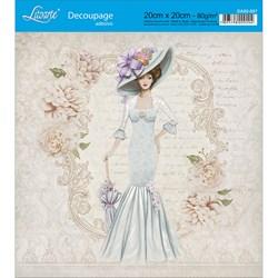 Adesivo Quadrado Litoarte 20x20cm DA20-037 Rosas Silvestres e Dama