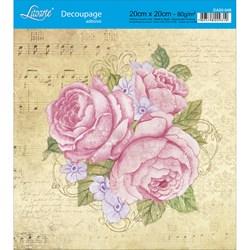 Adesivo Quadrado Litoarte 20x20cm DA20-048 Rosas